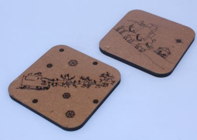 Christmas Themed MDF Coasters