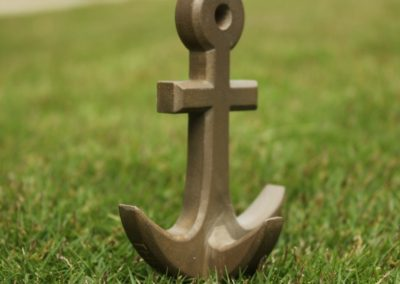 3D Printed Bronze Anchor Wall Hook