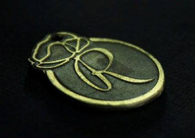 Brass Medallion With Logo