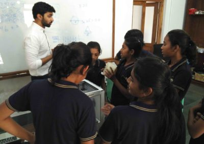 Avasara Students asking about a prototype